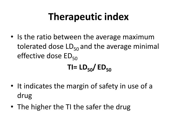 Therapeutic index