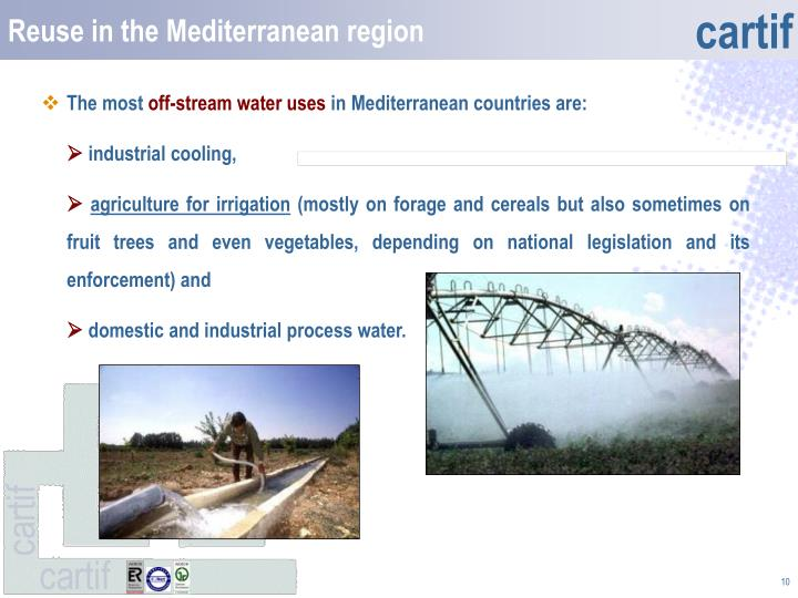 Reuse in the Mediterranean region