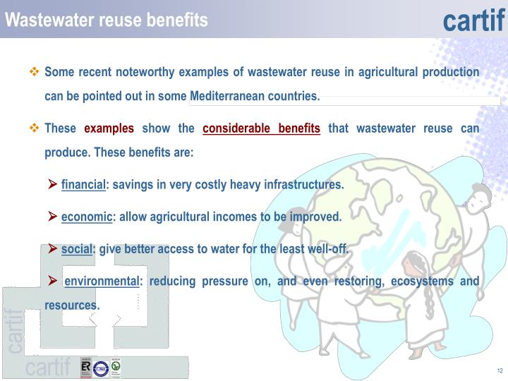 Wastewater reuse benefits