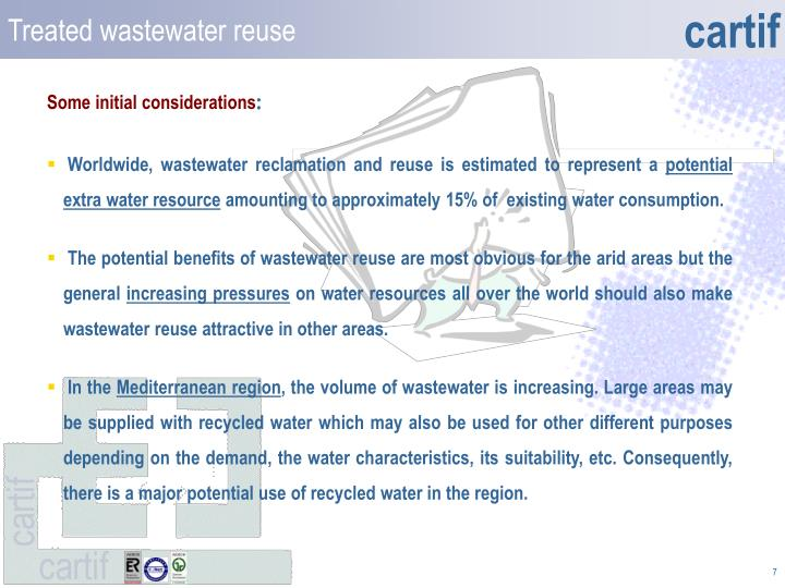 Treated wastewater reuse