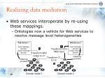 realizing data mediation