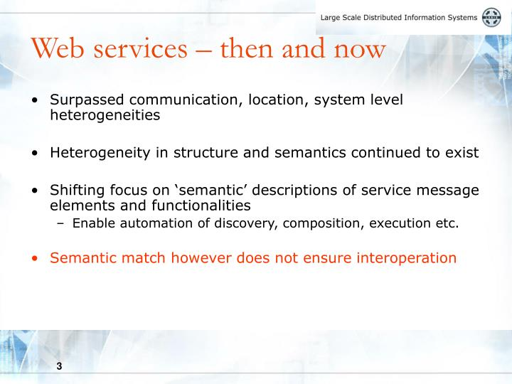 Web services then and now