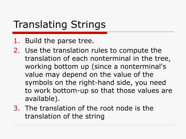 Translating strings