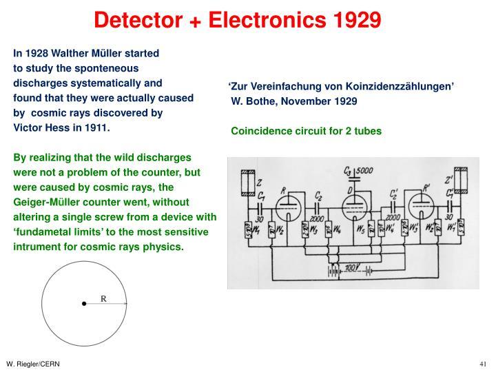 Detector + Electronics 1929