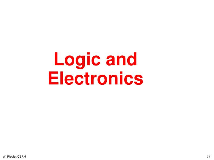 Logic and Electronics