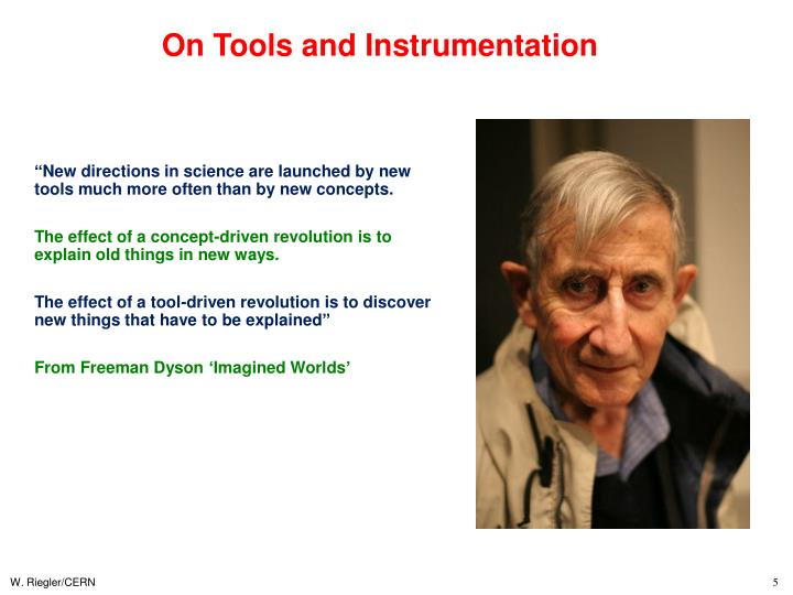 On Tools and Instrumentation
