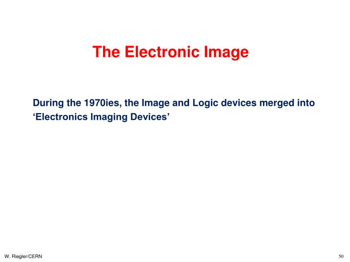The Electronic Image