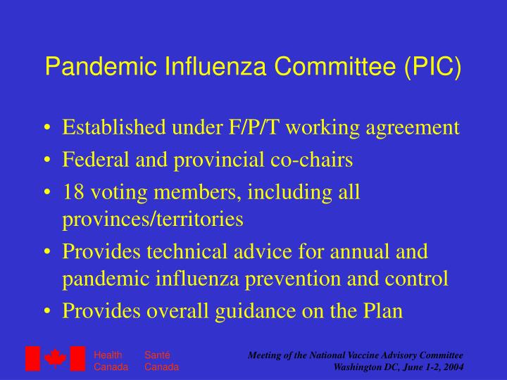 Pandemic Influenza Committee (PIC)