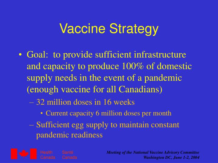 Vaccine Strategy
