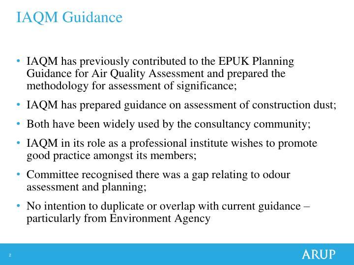 IAQM Guidance