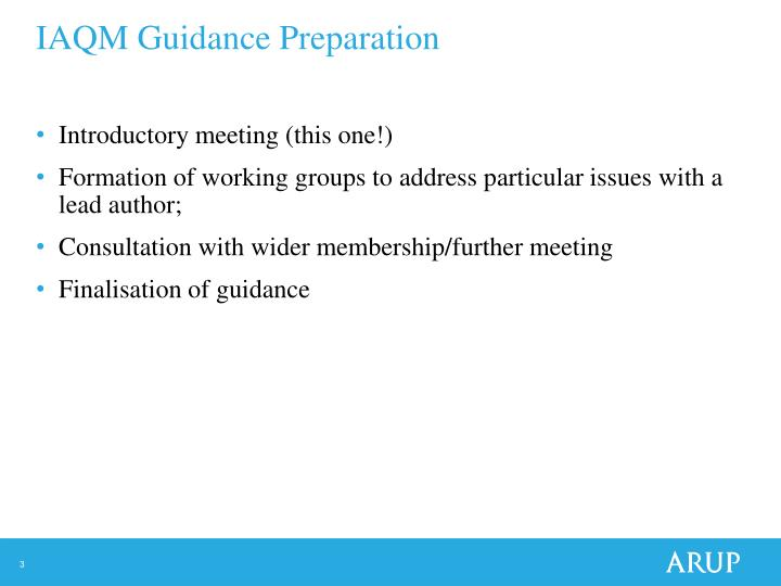 Iaqm guidance preparation