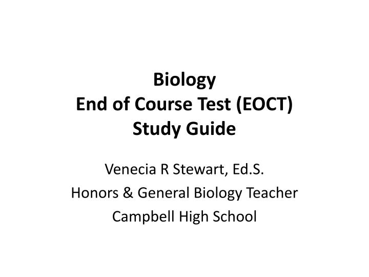 Biology end of course test eoct study guide