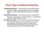 three t ypes of natural s election