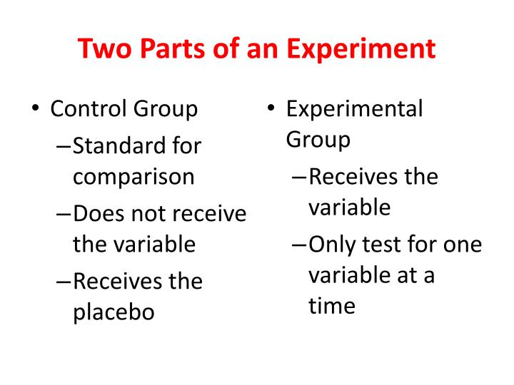 Two Parts of an Experiment
