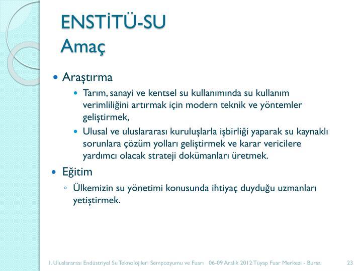 ENSTİTÜ-SU