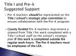 title i and pre k suggested support3