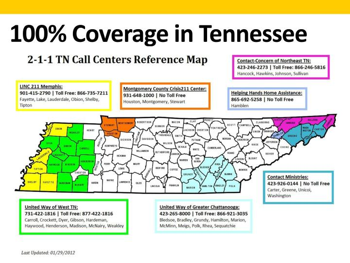 100% Coverage in Tennessee
