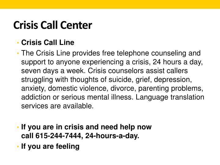 Crisis Call Center