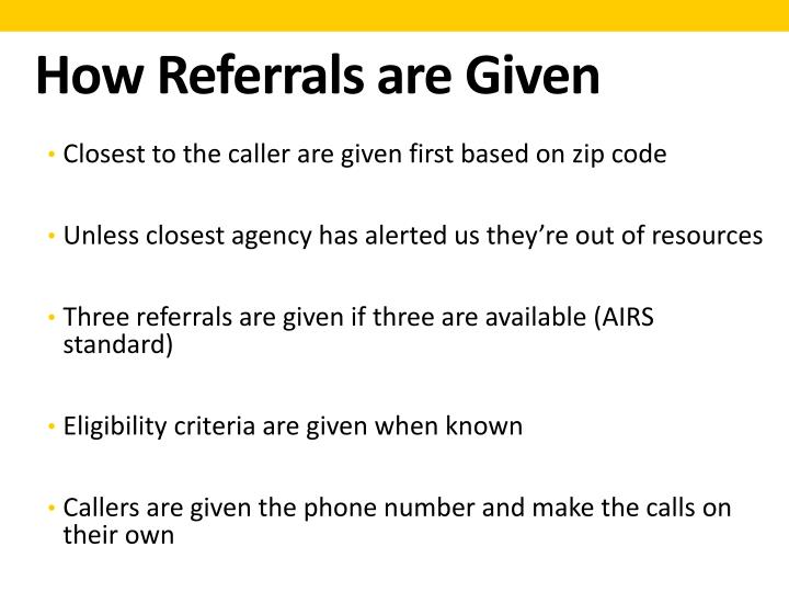 How Referrals are Given