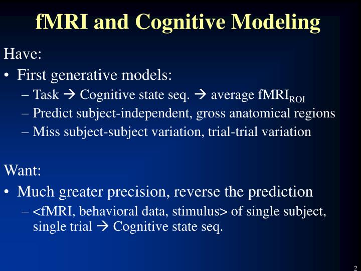 Fmri and cognitive modeling