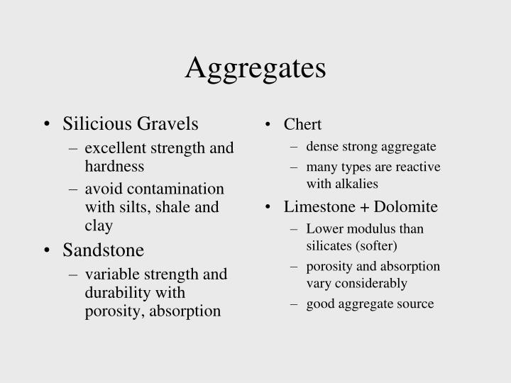 Silicious Gravels