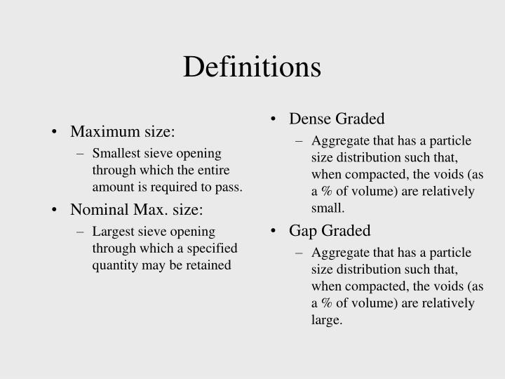 Maximum size:
