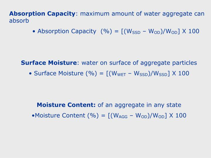 Absorption Capacity
