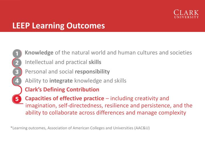 LEEP Learning Outcomes