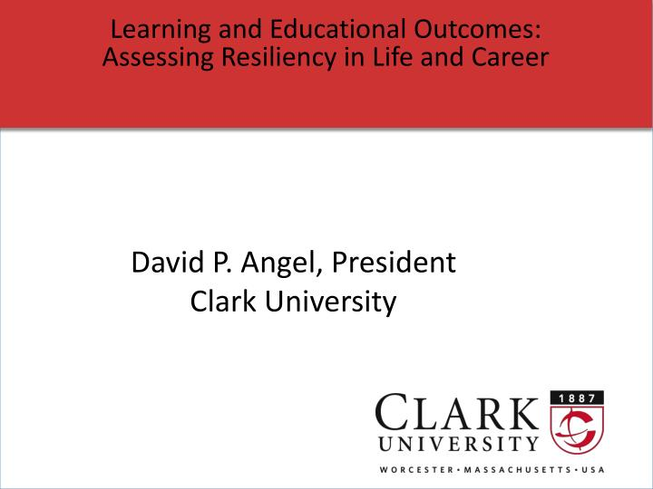 Learning and Educational Outcomes: