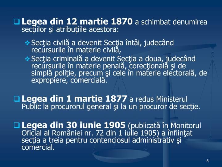 Legea din 12 martie 1870