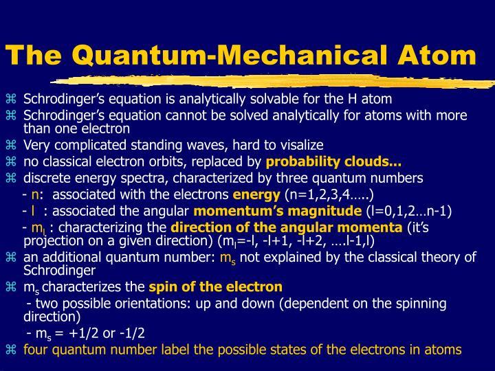 The Quantum-Mechanical Atom