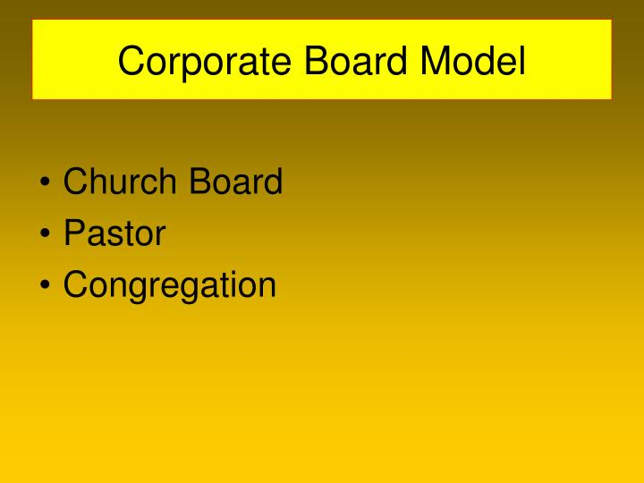 Corporate Board Model