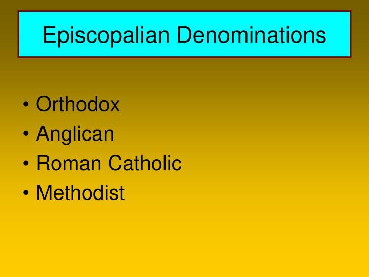 Episcopalian Denominations