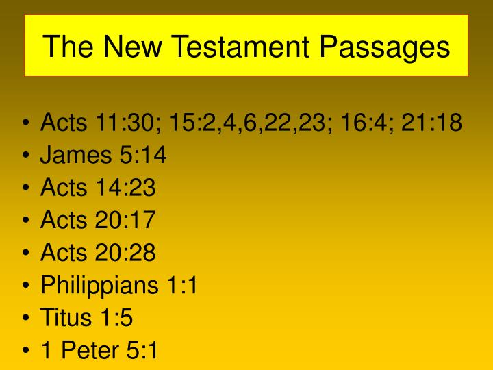 The New Testament Passages