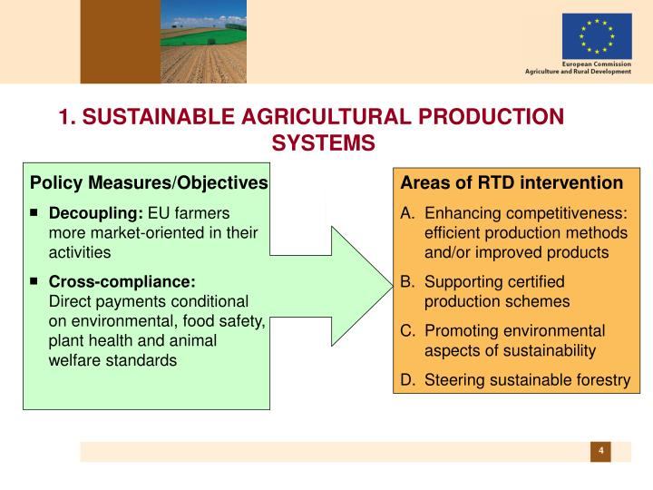the needs for sustainable crop production methods environmental sciences essay Sustainable resource use & sustainable  can satisfy the needs and improve the quality of human  changes on environmental quality, food production,.