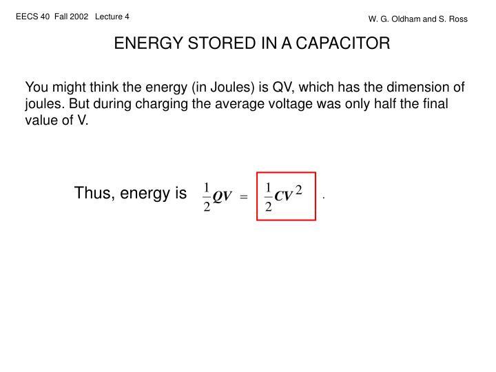Thus, energy is