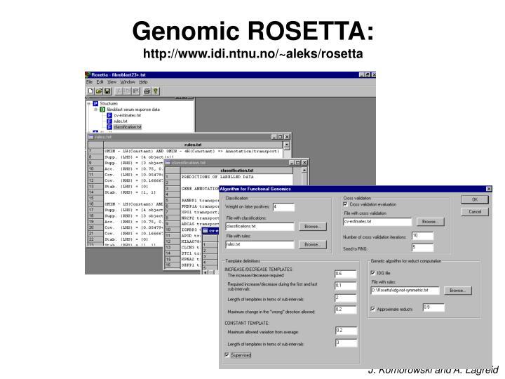 Genomic ROSETTA: