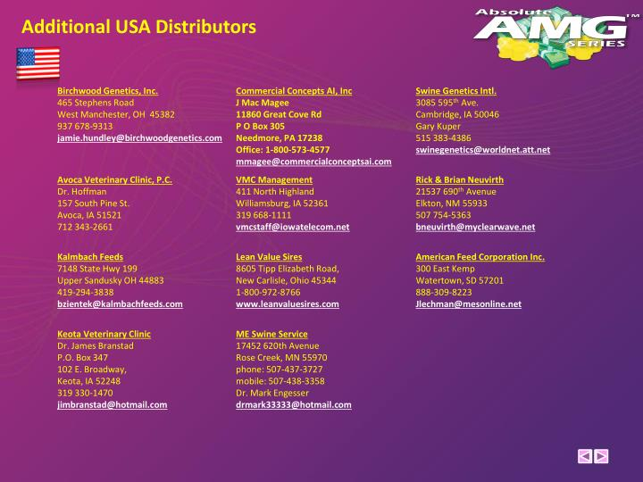 Additional USA Distributors