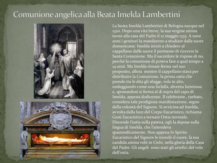Comunione angelica alla Beata