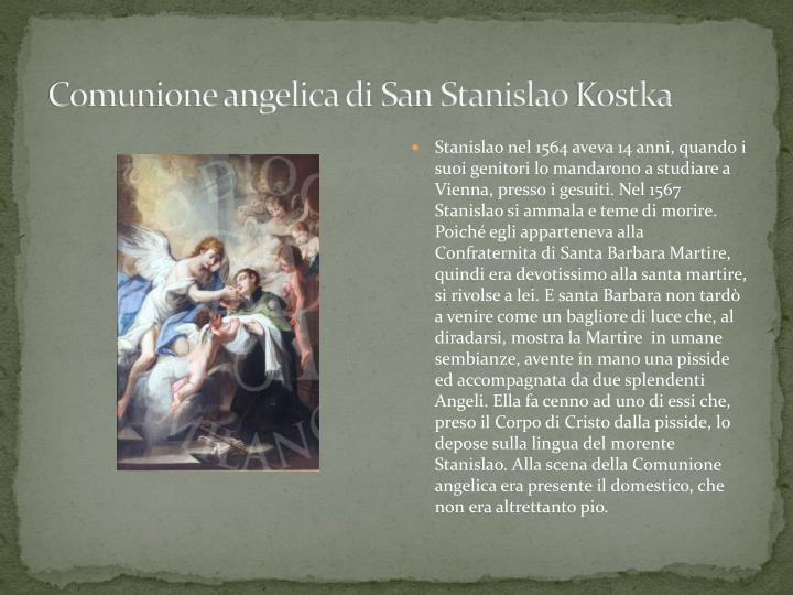 Comunione angelica di San Stanislao