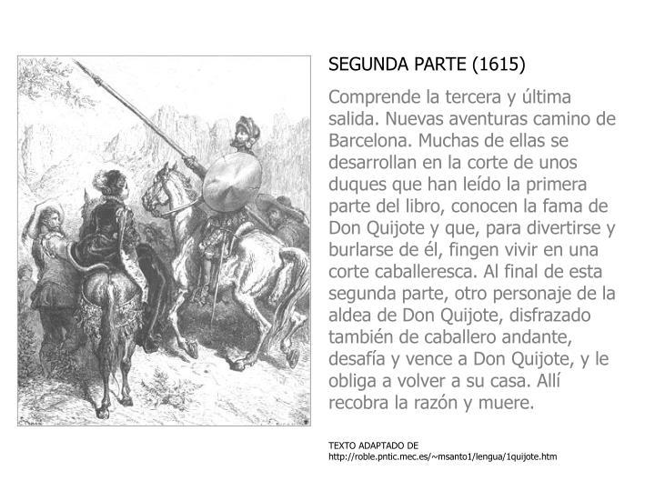 SEGUNDA PARTE (1615)