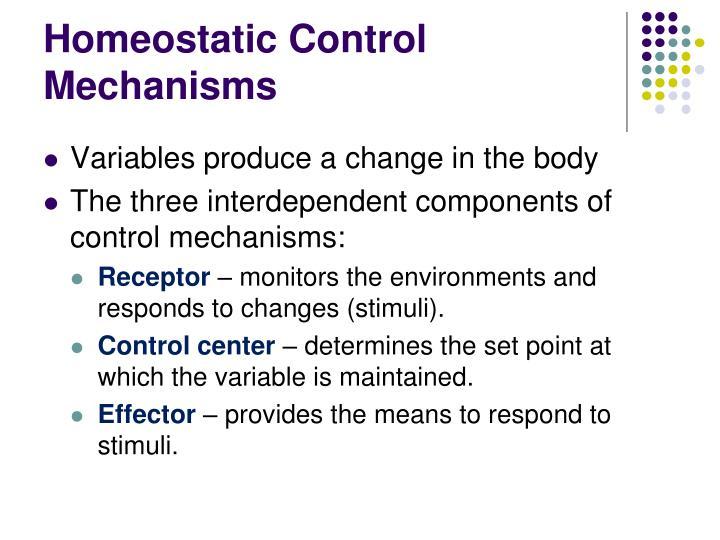 Homeostatic Control Mechanisms