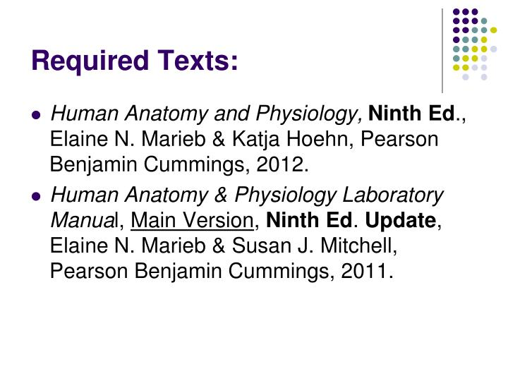 Required Texts: