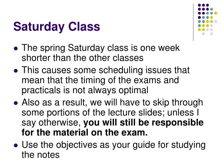 Saturday Class