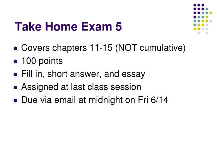 Take Home Exam 5
