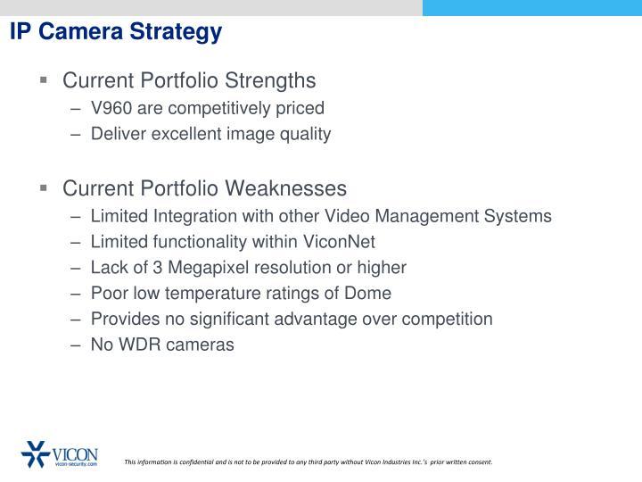 IP Camera Strategy