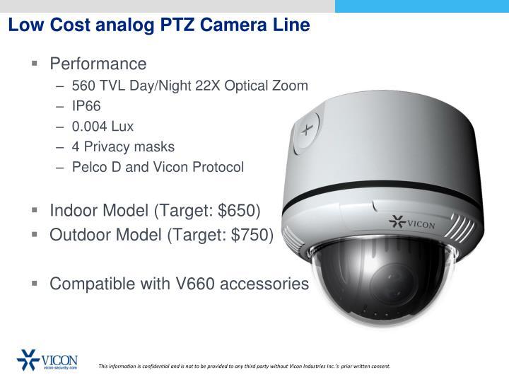 Low Cost analog PTZ Camera Line