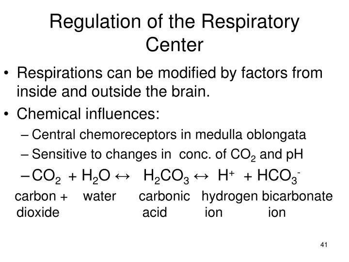 Regulation of the Respiratory Center