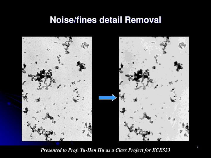 Noise/fines detail Removal