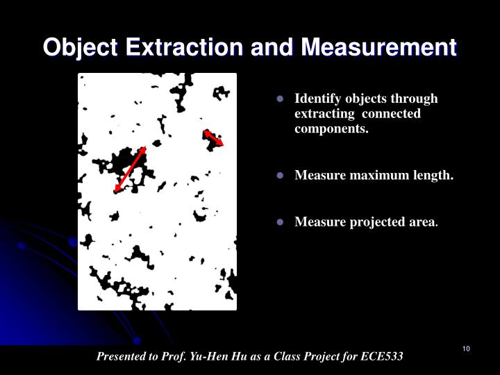 Object Extraction and Measurement